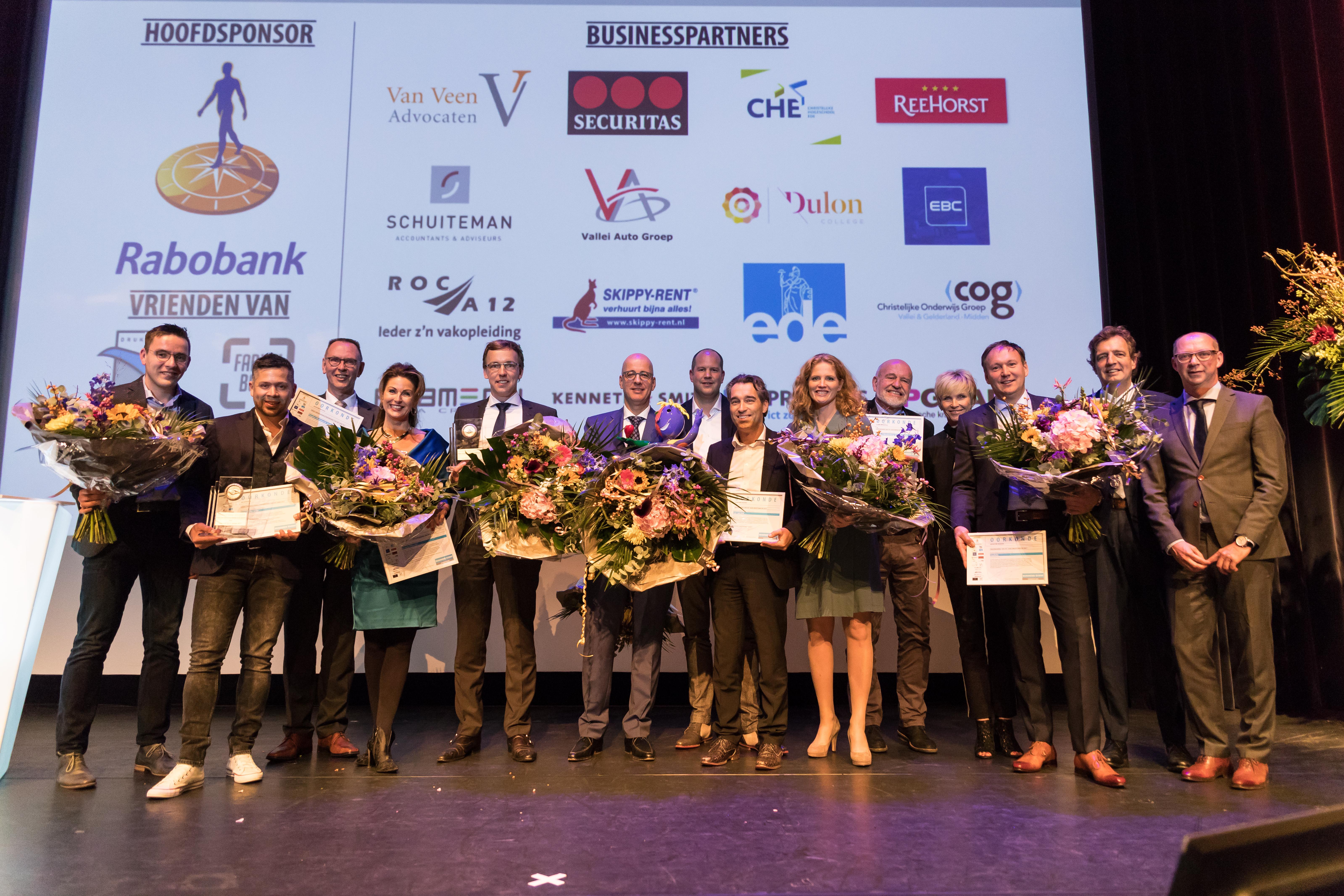 Mondial Waaijenberg genomineerd Ondernemer van het jaar 2017 Winaars op het podium Mondial Waaijenberg genomineerd Ondernemer van het jaar 2017 Winaars op het podium
