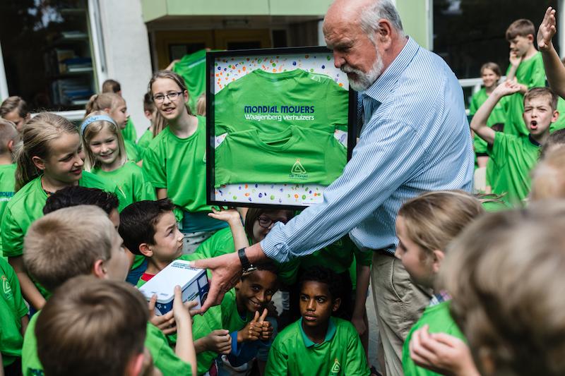 Mondial Waaijenberg Verhuizers sponsor Tshirts GBS de Triangel uit Ede
